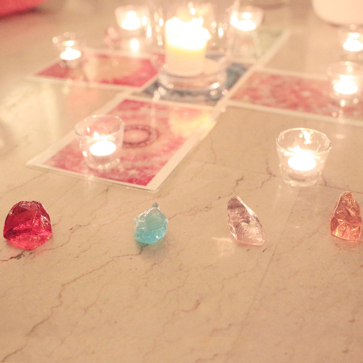 Andara Crystals and Card Grid Mikael King Singapore