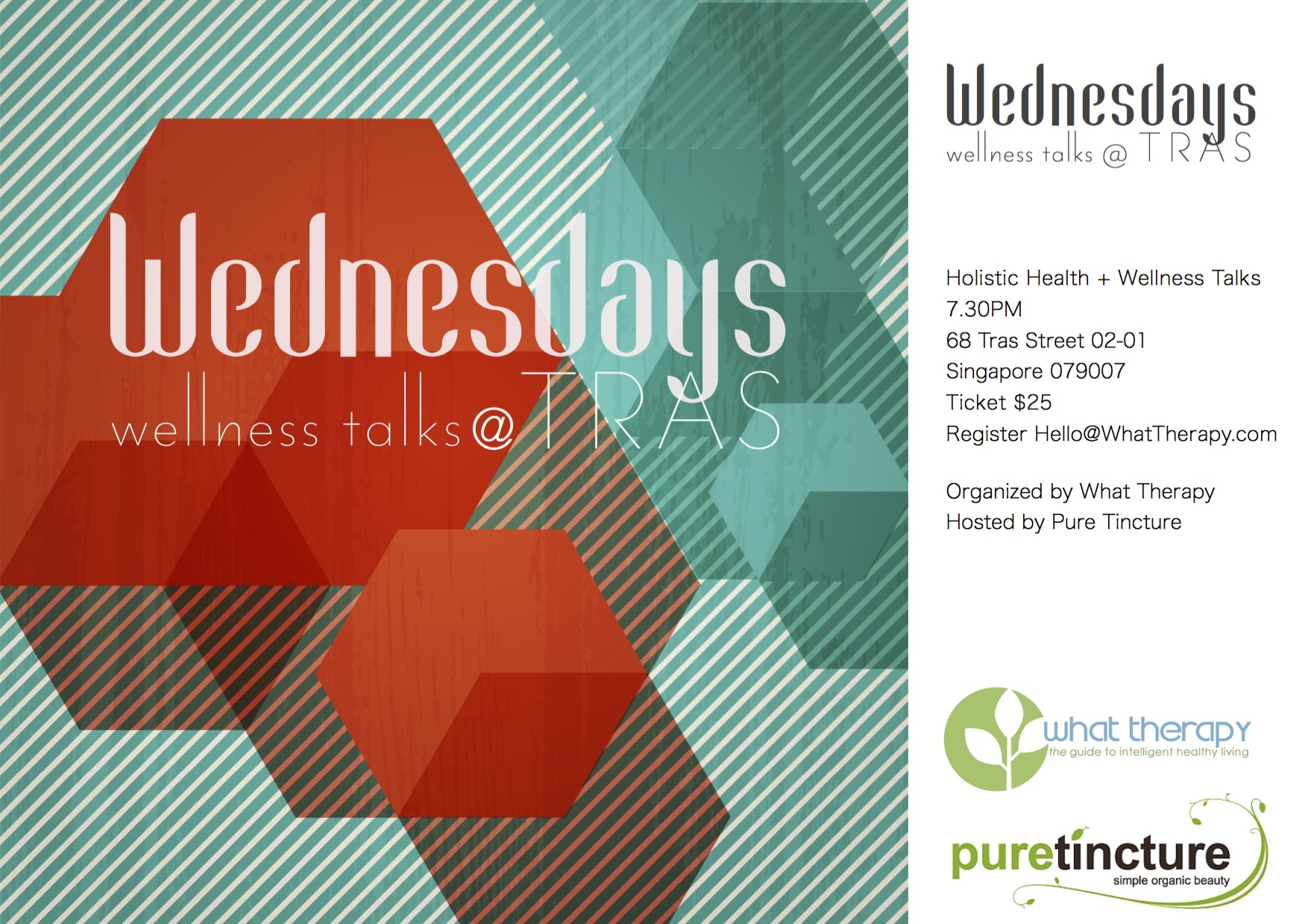 Wednesdays at Tras 2016 Wellness Talks What Therapy Pure Tincture Singapore