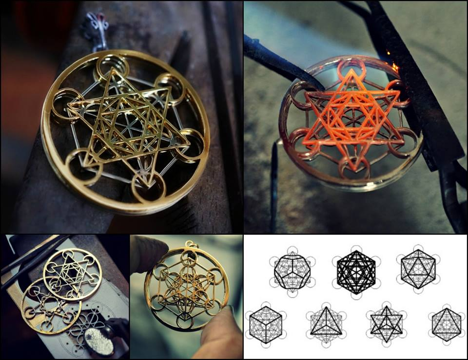 Metatron Cube Ka Gold Jewelry
